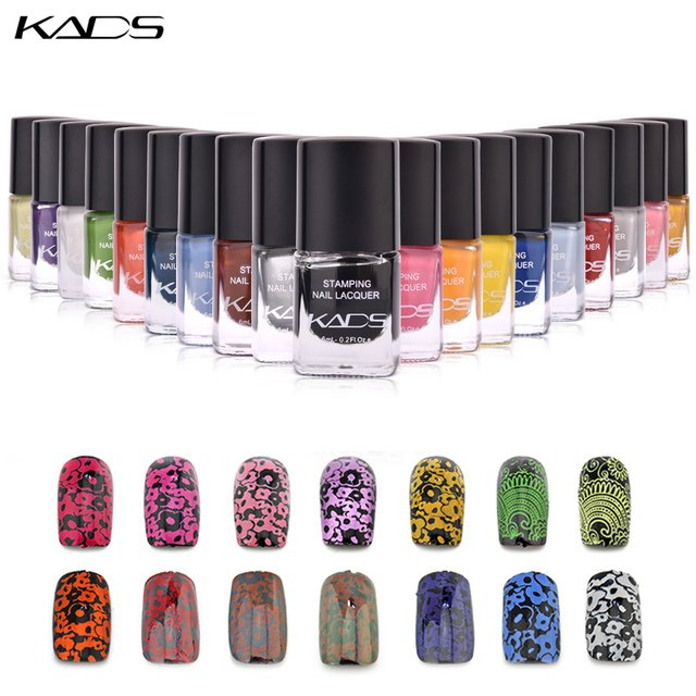 KADS 6ml Stamping nail Polish lacquer Nail Stamping Polish stamp nails Varnish use nail art stamp gel polish for template