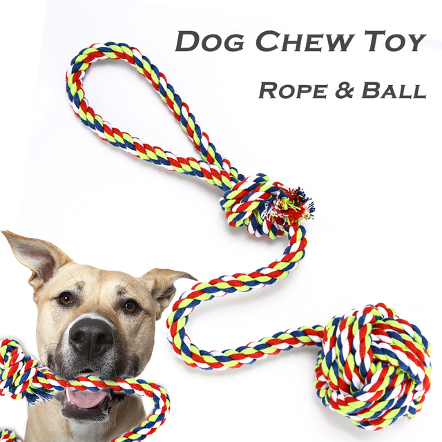 Pet Chew Toy for Small Large Dogs Interactive Cotton Chew Rope Ball Outdoor Teeth Cleaning Dog Toys Pet Supplies Rope Toy TY0110