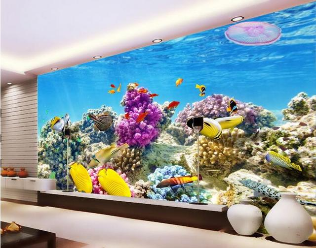 3d Room Wallpaper Custom Photo Mural Undersea World Tropical Fish Coral Aquarium Home Decor 3d Wall Murals Wallpaper For Walls Buy Cheap In An Online Store With Delivery Price Comparison Specifications