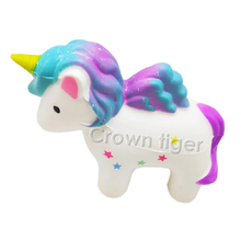 12cmgalaxy kawaii Unicorn Squishy Scented soft jumbo Squishy Slow Rising Squeeze Toys Cartoon Doll antistress Decompression Toys