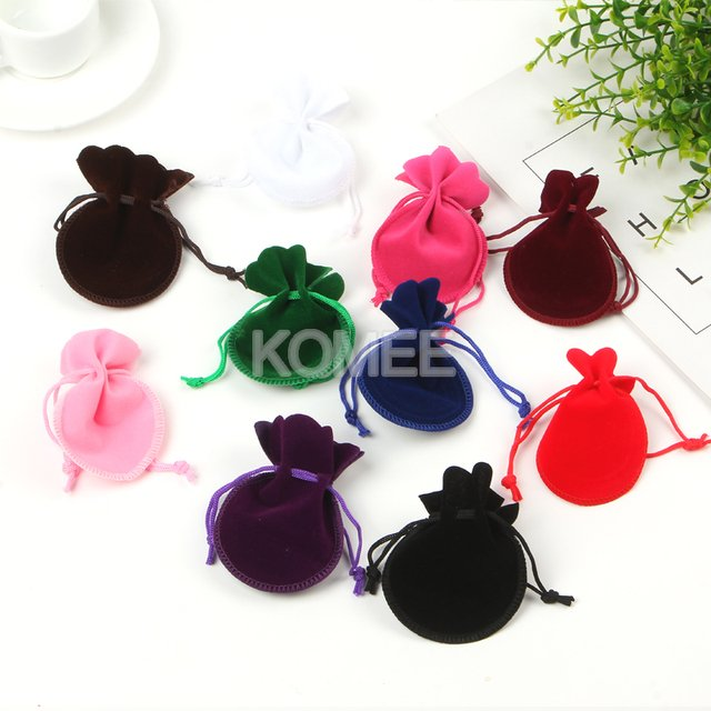 Hot Selling Jewelry Gift Bag 7*9cm 100pcs/lot Gourd Velvet Bag 5 Color In Stock For Jewelry Packaging Gift Pouch Customize LOGO