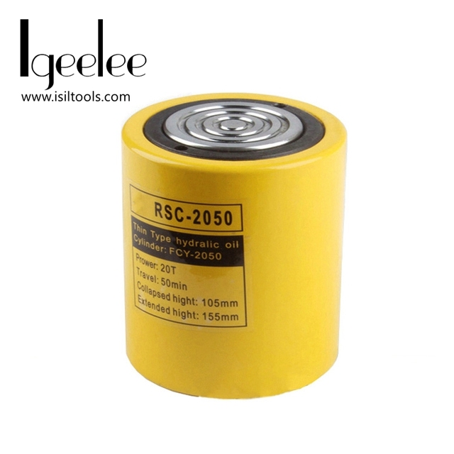 iGeelee Low Height Hydraulic Cylinder RSC-2050 Hydraulic Jack with tonnage of 20T, work travel of 50mm