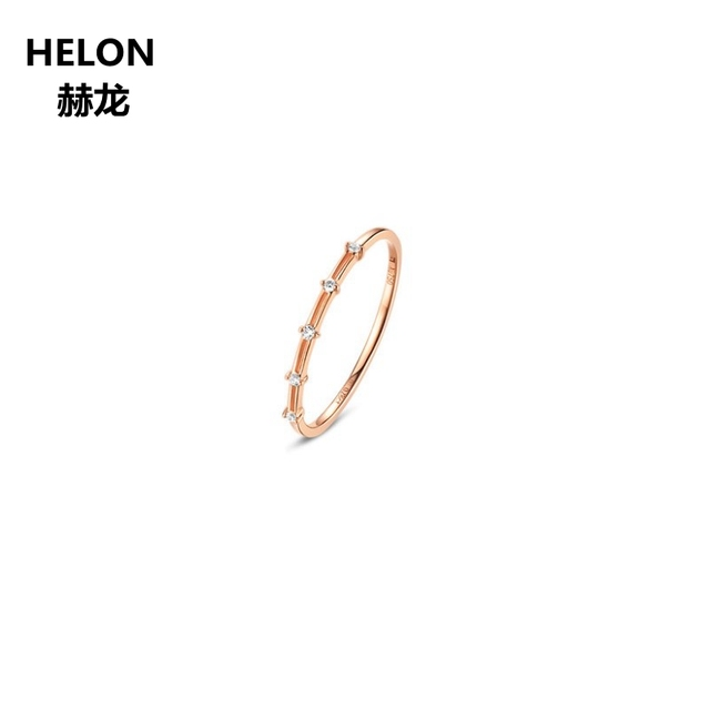 Solid 14k Rose Gold SI/H Natural DIamonds Engagement Ring Women Wedding Band Fine Jewelry