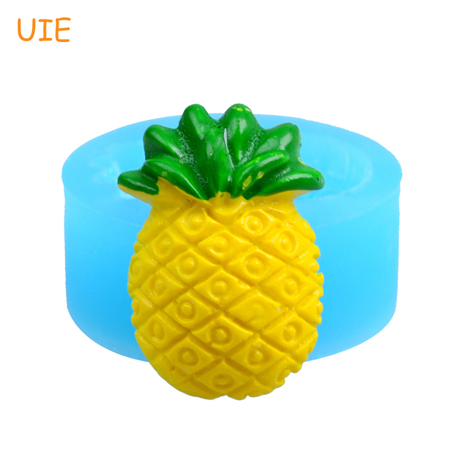 SYL045U Pineapple Silicone Mould 24.6mm - Cupcake Decoration Bakeware Candle Charms Mould, Cookie Mold Soap Mould