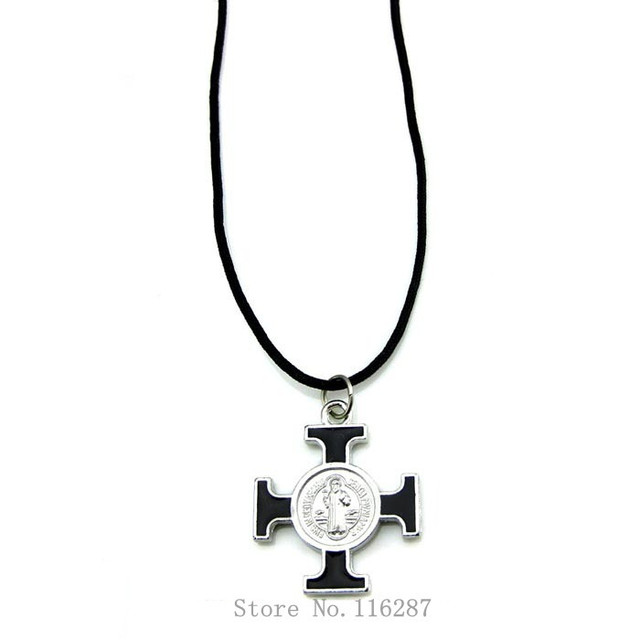 Catholic Saint Benedict of Nursia Protection Cross Medal Necklace Pendant Religious gifts Free Shipping