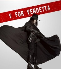Halloween Original V for Vendetta Mask Hat Wig Cloak Pants Boots Belt Dagger Armour Gloves 10 pieces Party Cosplay