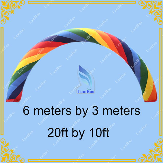 Hot Free Shipping 6m Inflatable Rainbow Arch for Events, Inflatable Colorful arch for Promotion