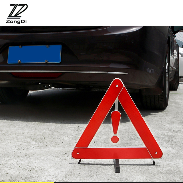 ZD Car For Volvo S60 V70 XC90 Subaru Forester Peugeot 307 206 308 407 Reflective Triangle Safety Stop Warning Sign Foldable