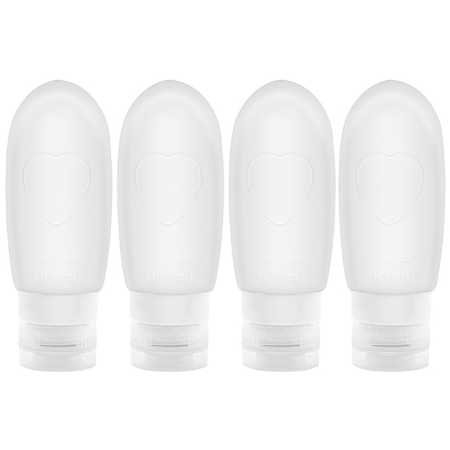 4 Pcs/Set Portable Bathroom Product Bottle Cosmetics Containers Lotion Shampoo Storage Press Refillable Bottles Household Tool