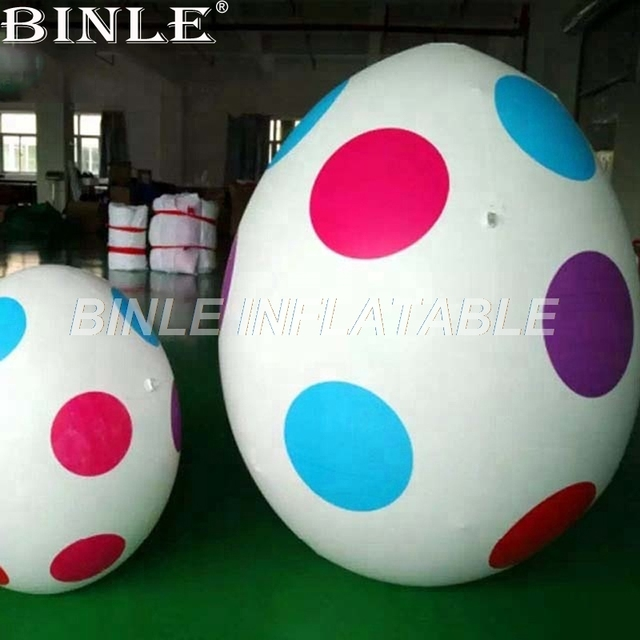Hot sale spots advertising giant inflatable easter egg with air blower for events decoration