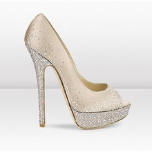 EUR35-41 Big J C New Hot sex Pale golden sardines hot drill fish mouth high heel shoes F018
