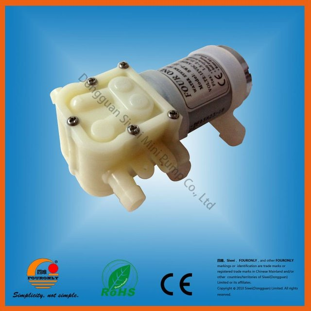 SWP-1218 series low noise FDA quality CE and RoHS approved DC 12V / 24V electric water dispenser mini water pump