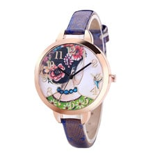 NEW 2019 Fashion Brand Quartz Watches Beauty Pattern Watch Women Casual Vintage Leather Girls Wristwatches gifts Clock #0725