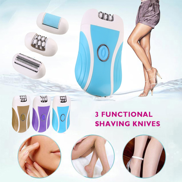 Women Electric Safely Shaver Hair Removal Portable Foot Exfoliating Scrub Rechargeable Smooth Hair Remover Instant Pain Razor