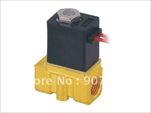 G1/4'' 2P025 Brass Solenoid Valve 2/2 Way Miniature Valves Normally Closed 2P025-08A