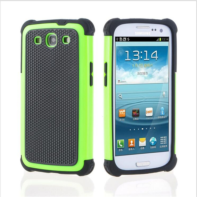 S3 Neo I9301I Ball Grain Plastic Shockproof Case Silicone Cover For Samsung Galaxy S3 i9300 Hybrid Hard Cover