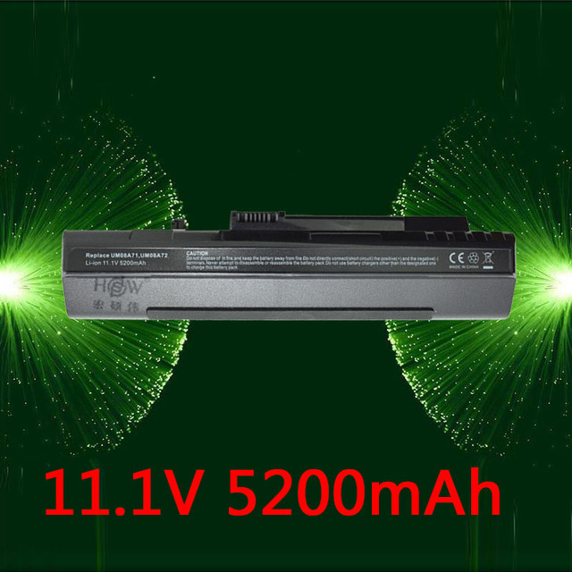 HSW Laptop battery for Acer Aspire One A110 A150 D150 D250 ZG5,UM08A31 UM08A32 UM08A71 UM08A72 UM08A73 UM08B74 UM08A51 UM08A52