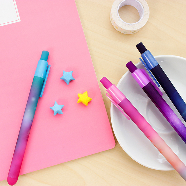 6 pcs/Lot Dream star gel ink pens Starry explore caneta pen Stationery papelaria Office accessories School supplies FB585