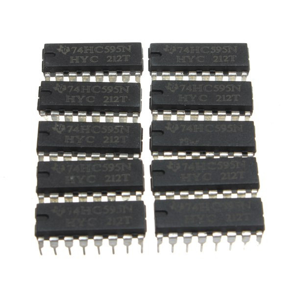 25pcs SN74HC595N 74HC595 74HC595N HC595 DIP-16 8 Bit Shift Register IC Chips Integrated Circuits