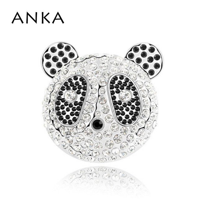 ANKA New Arrival High Quality Panda Brooch Pin Promotion Romantic Brooches Hijab Wedding Dress Crystal Jewelery #85108