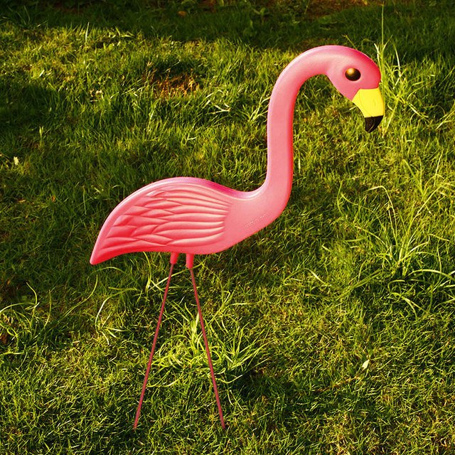 Plastic Flamingo Ornament Flamingo Figurines Flamingo Lawn Decoration Beautiful Lifelike Arts Garden Ornaments