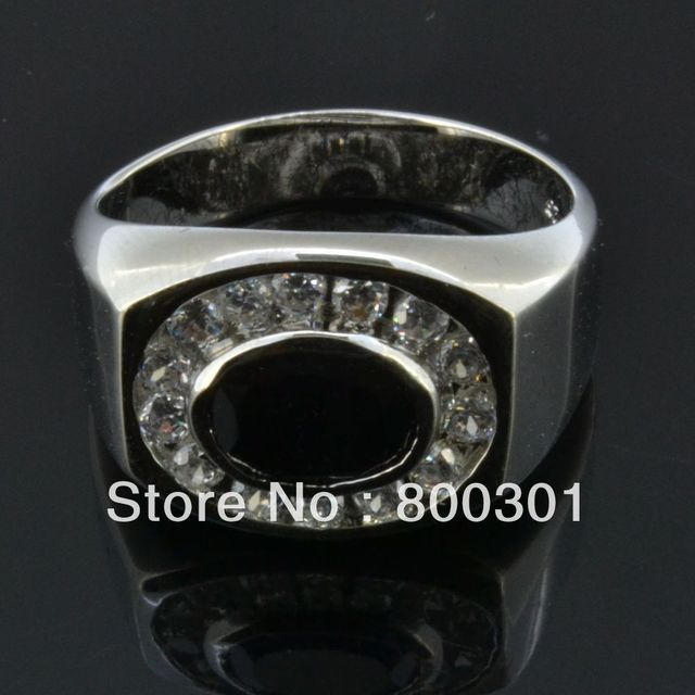 2017 New arrival high quality black agate gem stone 925 sterling silver men finger rings wedding ring for man jewelry wholesale