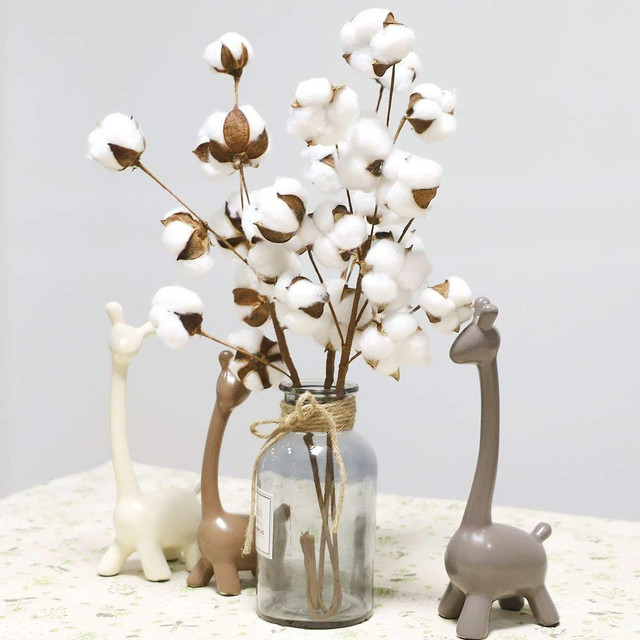 Artificial Flower Filler Floral Decor Naturally Dried Cotton Stems Farmhouse Cotton Fake Flower Home Decor Bedroom Decoration Buy Cheap In An Online Store With Delivery Price Comparison Specifications Photos And Customer