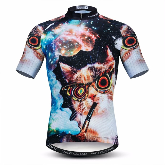 Weimostar 2019 Cycling Jersey mens Bike Jersey road MTB bicycle tops Pro Team Ropa Maillot Ciclismo Racing shirt summer cats red