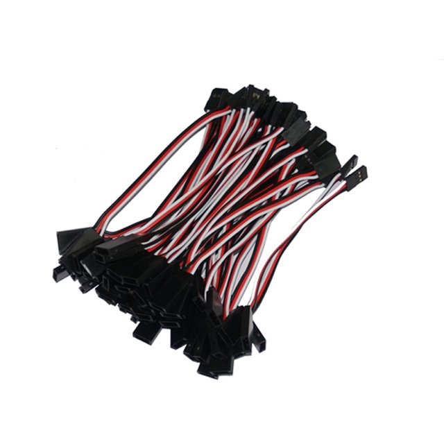 500pcs/lot 100mm JR Futaba plug connecting servos cables 10cm straight wire cable for drone Servo extension wire free shipping
