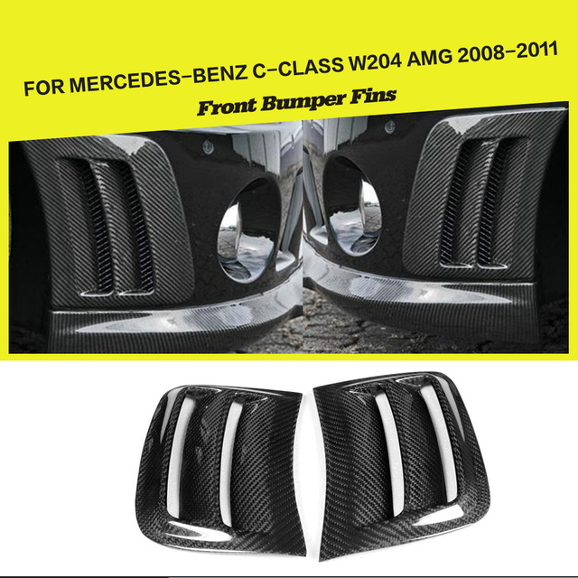 Carbon Fiber Front Bumper Side Air Fenders Vents Panels Trims Cover for Benz C-class W204 C63 AMG 2008 - 2011 Car-Styling
