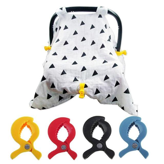 Baby Colorful Car Seat Accessories Plastic Pushchair Toy Clip Pram Stroller Peg To Hook Cover Blanket Mosquito Net Clips