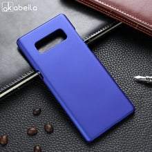 AKABEILA Case For Samsung Galaxy Note 8 Case Hard Plastic Matte Black Cases Coque For Samsung Note 8 Cover Etui Note8 5.7 inch