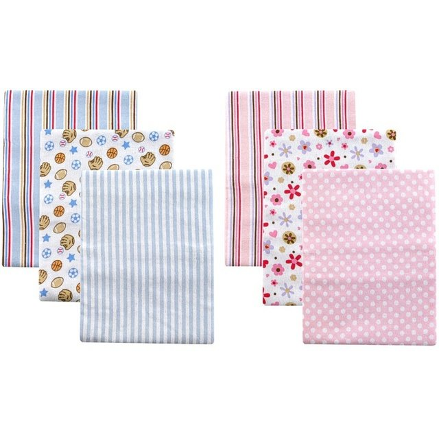 3pcs/lot Free Shipping USA Luvable Friends 3-Pack Flannel Baby Receiving Blankets,cotton baby bedding Set
