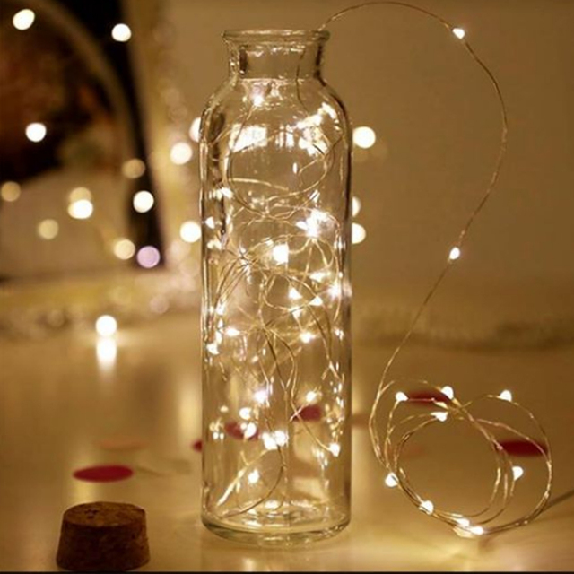 2m 20-LED Copper Wire String Light with Bottle Stopper Led Lights Cork light string Decoration Fairy Lamp Party Wedding