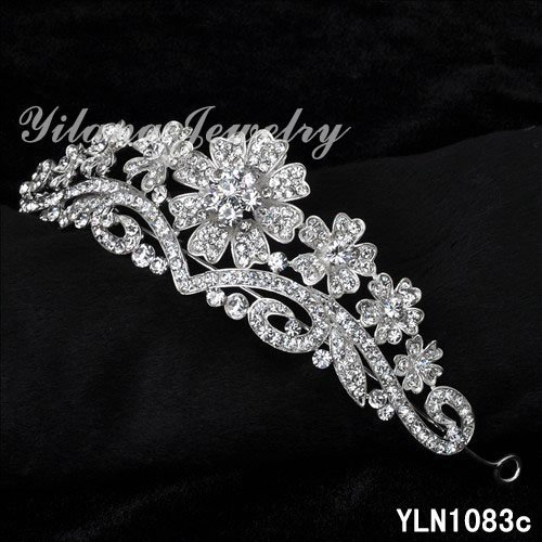 HOT Austrian crystal tiara crown hair jewelry bridal wedding hair accessories jewelry for hair tiaras and crowns noiva