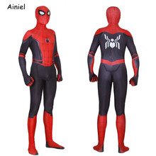 Adult Spider Suit Far From Home Peter Parker Cosplay Costume Mask Zentai Spiderman Superhero Jumpsuits Halloween  Man Kids