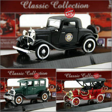 Candice guo Alloy model plastic toy Vintage car classical motor truck wecker simulation collection children christmas gift 1pc