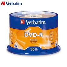 Verbatim DVD Drives 16X 4.7GB DVD-R Blank CD Disks Bluray Recordable Media Compact Write Once Data Storage Empty DVD Discs Lotes