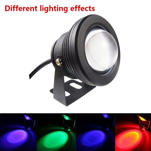 Durable Lawn Lamp 10W RGB LED AC/DC12V IP65 Waterproof Outdoor Pond Gutter Path Way Garden Decking Street Lamp Home