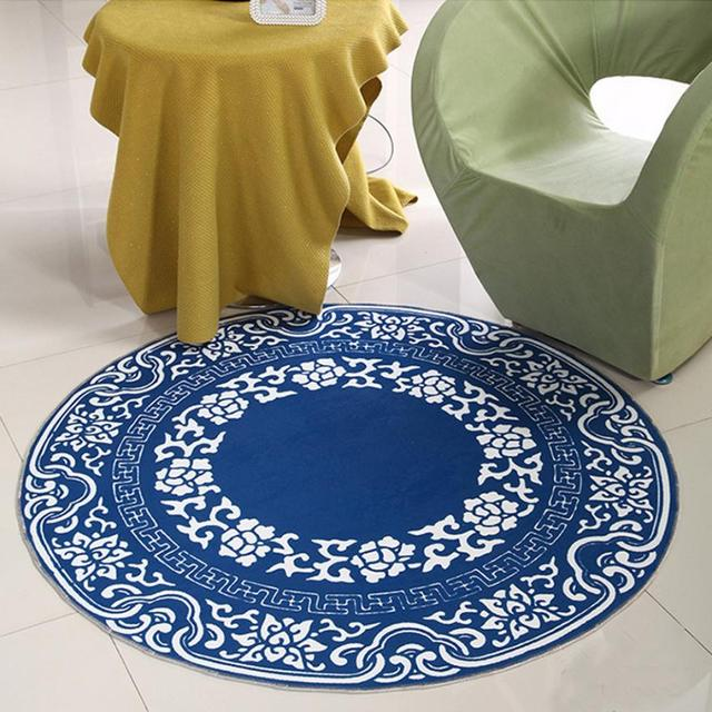 60*60cm Round Antiskid 3D Ground Removable Waterproof Home Decor Mat  Levert Dropship mar1