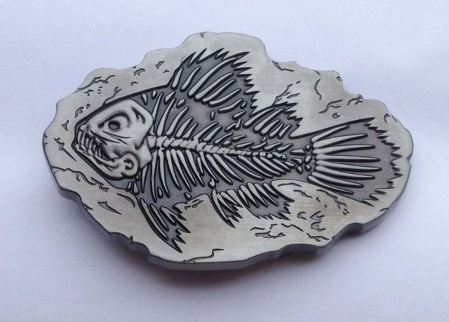 Fish belt buckle with Pewter finish SW-BY45 suitable for 4cm wideth belt with continous stock