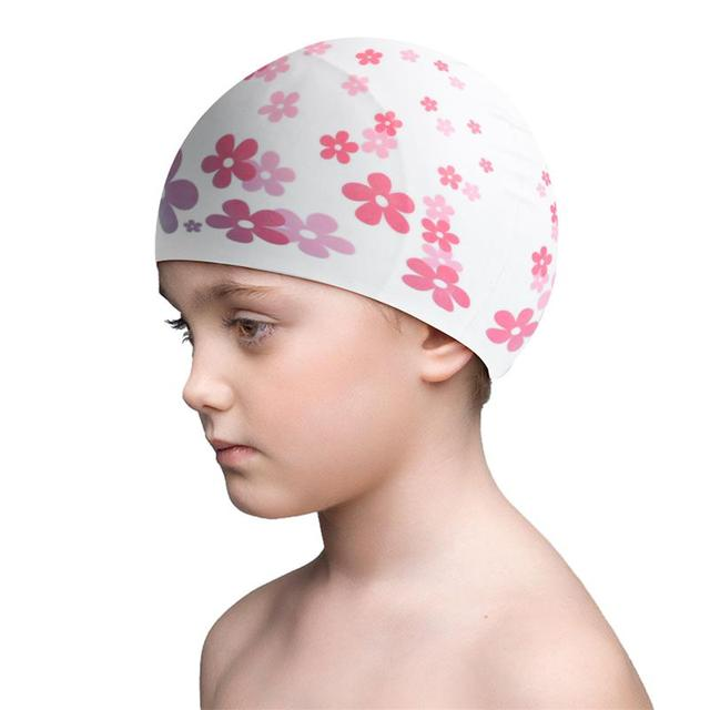Protective Waterproof Professional Practical Silicone Swimming Hat Cap for Children Kids Baby Swimming Supplies Water Sport