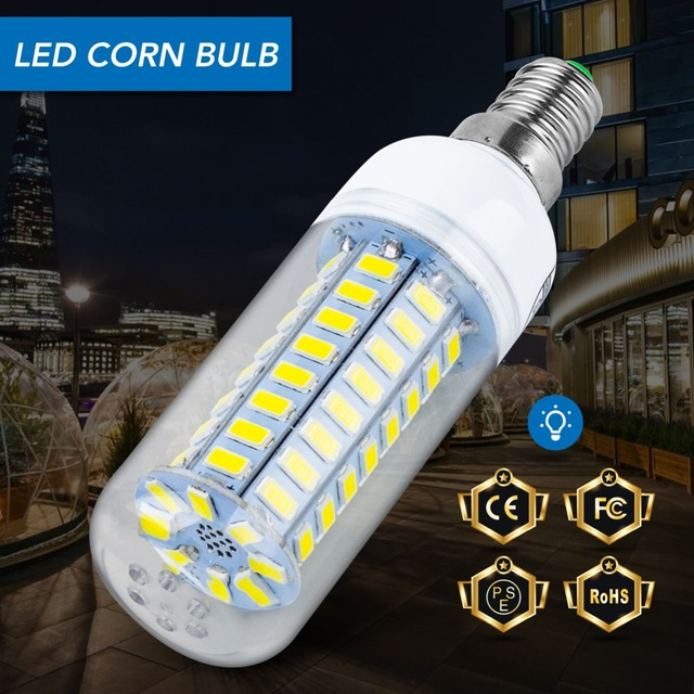 Led Lamp E27 Corn Bulb E14 Lampada Led 220v Candle Light Bulb 5730SMD 24 36 48 56 69 72leds Lighting For Home Decoration Ampoule