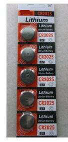 free ship 10pcs/lot 3V CR2025 lithium battery button cell coin cell battery
