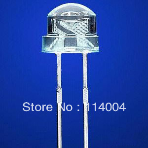 New 500pcs/lot Straw Hat LED dip 5mm Ultra Bright Pure White LED Diode Round Water Clear Cool White Color 15000-18000MCD