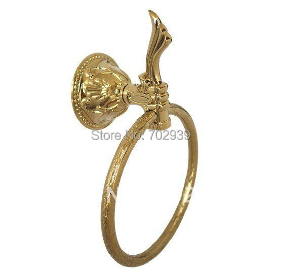 FREE SHIPPING NEW design 24k GOLD towel ring with flowers  c