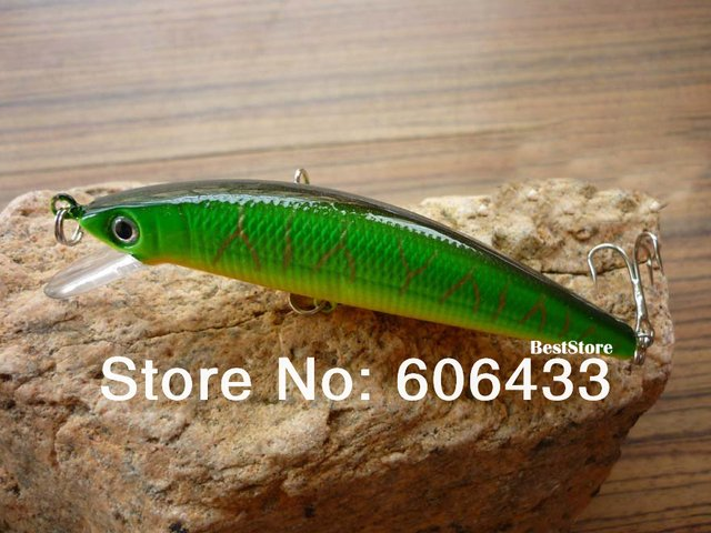 5PCS Fishing Fish Lures Minnow Crankbait Water For Bass 10cm 9g Free shipping