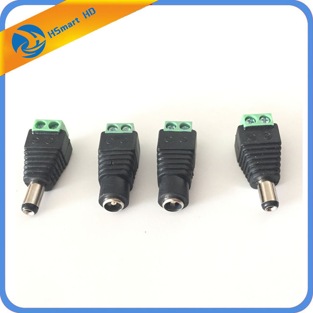 DC 5.5 x 2.1mm Power Female Jack Adapter Plug Connector for LED DC Box CCTV for Security CCTV Analog camera DVR Systems