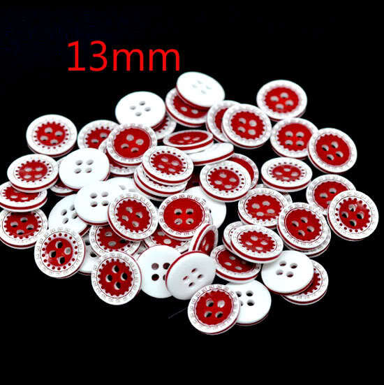 100Pcs Mixed Round Resin Sewing Buttons For Cloth Flatback Cabochon Scrapbooking Crafts Knopf Bouton Decor Diy Accessories