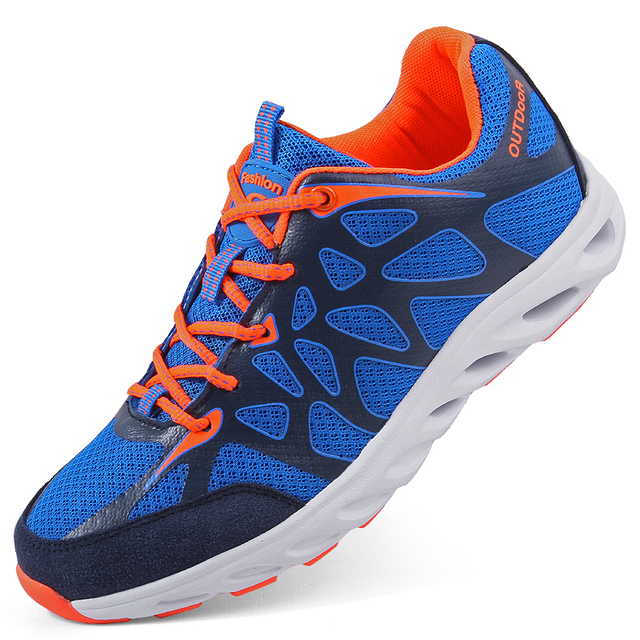 Trainers 2018 New Men and Women Running Shoes Summer Breathable Mesh Sports Shoes Outdoor Cross Country Trekking Sneakers 36-45